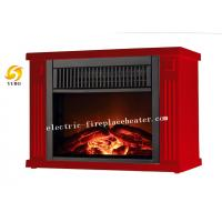 Cheap Custom Made Red Mini Square Indoor Electric Fireplace With  Light wholesale
