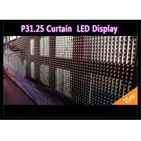 Cheap Transparent See - Through Curtain IP 65 , Rental LED Media Facade for Advertising wholesale