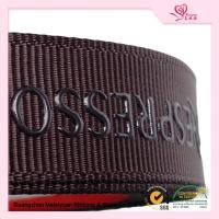 "Cheap 5 / 8"" Custom printed grosgrain ribbon Brown color With Company Logo wholesale"