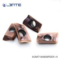 Customized Carbide Insert Milling Cutters , Cnc Lathe Inserts AOMT184808PEER - H