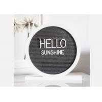 Cheap Round Reversible Felt Message Board 12x12 Double Side With 340 White Letters wholesale