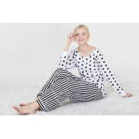 Cheap Comfortable Dotted Womens Pyjama Sets Long Sleeve Top And Pants Soft Handfeel wholesale