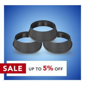 Cheap Black Neon Signs 20mm Width Aluminium Plastic Trim Cap wholesale