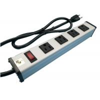 Cheap Metal 4 Way Multi Outlet Power Strip With On Off Switch For Workshop / Office wholesale
