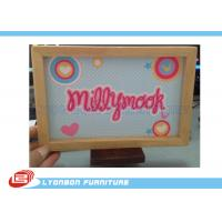 Cheap Eco MDF Wood Engraving Logo SGS ISO For Grocery Store Promotion wholesale