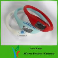 Cheap Pink / Blue / White / Black Anion Silicone Watch With Customized Logo, 15 -19 cm wholesale