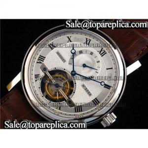 China Breguet Jubilee Tourbillon Reserve SS/LE White Tourbillon Replica Watches on sale