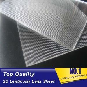 Cheap 30 lpi lenticular lens sheet uk standard size plastic lenticular lens PS board for outdoor indoor lenticular advertising wholesale