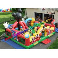 Cheap Mickey Mouse Amusement Toys , Jumping Bouncer Funcity With PVC wholesale