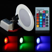 Round Shape High Power Epistar 5W RGB LED Panel Light With Remote Control