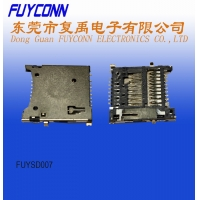Cheap 250VDC 0.5A Insulation 4.0 H1.67 SD Card Push Connector wholesale