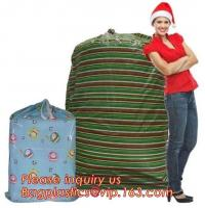 Cheap Gift Toy Drawstring Storage Packing Bag Giant Plastic Gift Poly Santa wholesale