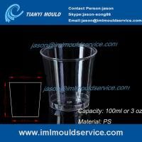 Cheap clear 100ml thin wall PS plastic disposable drinking cups mould manufacturers and supplier wholesale