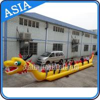 Cheap Yellow Dragon Banana Shaped Inflatable Boats 12 Person Water Sport Games For Adult for sale