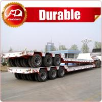 Cheap construction machine transport 3lines lowboy 6Axles 120Tons Low Bed Semi Trailer for Heavy Duty Transport wholesale