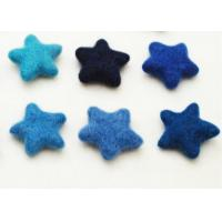 Cheap 81 Color Soft Wool Felt Balls Cute Star Pattern With Needling / Screen Printing Logo wholesale