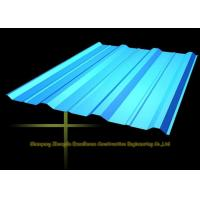 Cheap Long Span Color Coated Metal Corrugated Roofing Sheets / PPGI Roof Steel Panels wholesale