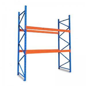 Cheap 1 - 3 Tons Pallet Steel Warehouse Shelving , 4 Layers Boltless Steel Shelving wholesale