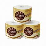 Cheap Toilet paper with natural color, unbleached, dust-/scrap-free, non-wood fiber, more eco-friendly wholesale