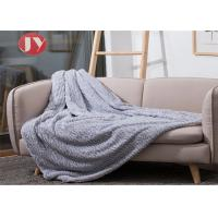 Cheap Mink Appearance Knitted Rabbit Fur Blankets Machine Wash Faux Fur sofa Blanket wholesale