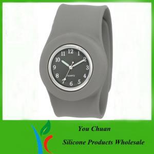 Cheap Customized Waterproof Silicone Slap Watch With Janpanese Quartz / Digital Movement wholesale