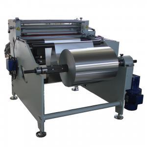 Cheap max width 800mm AL foil cutter Aluminium foil roll to sheet cutting machine wholesale