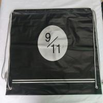 Cheap Transparent Rope Bag Rucksack , Black Outdoor Clear Plastic Drawstring Bags wholesale