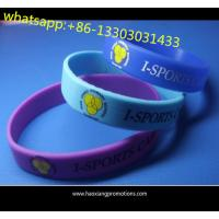 Cheap cheap selling Purple Silicone Bracelet with customized print logo wholesale