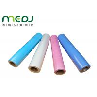 Cheap Paper And PE Medical Disposable Bed Sheets 49cmX50m Fabric Roll wholesale