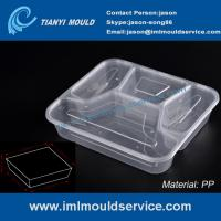 Cheap disposable 4 compartment plastic thin wall lunch PP container and box mould wholesale