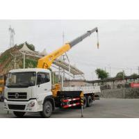 Cheap Dongfeng LHD 6x4 15 Ton Crane Truck , Mobile Crane Truck With Telescopic Boom wholesale
