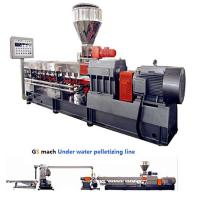 Cheap 300 - 400 Kg / H Double Screw Extruder Machine With Under Water Pelletizing System wholesale