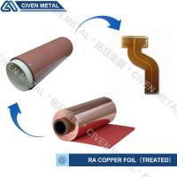Cheap High Flexibility 25UM / 35UM / 50UM RA Copper Foil For Fine Circuit FPC wholesale