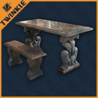 Cheap Simply Marble Garden Ornaments With Outdoor Stone Bench For Decking wholesale