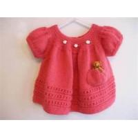 Cheap Stylish 100%elastic jersey baby knitted dresses with double layer Drape skirt side wholesale