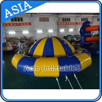 Cheap Giant Water Floating Inflatable Saturn Rocker / Inflatable Water Disco Boat for sale