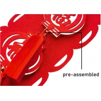 "Cheap 8 Pack 26.2"" Long Assembled 2mm felt garland for Chinese New Year wholesale"