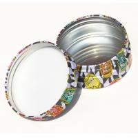 Cheap Round Cosmetic Powder Makeup Tin Box Packaging CMYK Printed Round Tin Cans for sale