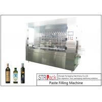 High Efficiency Coconut / Olive Oil Filling Machine No Leaking With Servo Filler