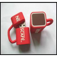 Cheap wholesale OEMNovelty Coffee Cup Usb Flash Drives, pvc usb flash drive rubber usb chip wholesale