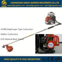 China Safety Guard Backpack Garden Grass Cutter Pipe Dia 28mm Engine 443RB on sale