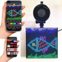 Cheap P4 RGB 5''x 5'' Full color wireless blue tooth App control Emoji smiley Emotion faces LED car display wholesale