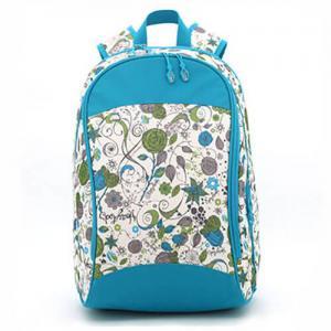 Cheap Zipper  Floral Custom Logo Backpacks , Embroidered Book BagsFor Teenage Girls wholesale