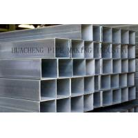 Cheap Galvanized Weld Rectangular Steel Tube Cold Drawn with Normal Carbon Steel , ASTM-A53 BS1378 wholesale