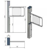 Security Swing Arm Turnstile Waist High Barrier Turnstile with remote control switch