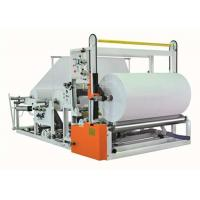 Cheap Jumbo Reel Toilet Paper Rewinding Machine For Paper Rolls Two Paper Unwinders wholesale