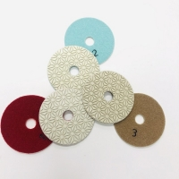 Cheap 3 Step 105mm Wet Diamond Polishing Pads For Marble wholesale
