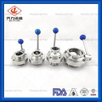 Cheap Clamped  Tri Clamp Butterfly Valve Corrosion Resistant Long Working Life wholesale