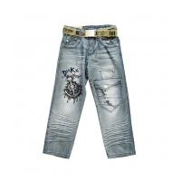 Cheap Excellent quality customizable Fine workmanship kids jeans wear for girls wholesale