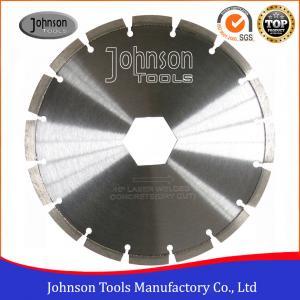 Cheap High Precision Diamond Concrete Saw Blades With 16mm , 20mm Center Hole wholesale